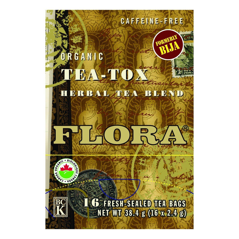 Flora, Herbal Tea Blend, Certified Organic Tea-Tox, 16 Tea Bags, 1.13 oz (32 g) Quantities Limited
