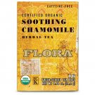 Flora, Herbal Tea Blend, Certified Organic Soothing Chamomile Camomile, 16 Tea Bags (19.2 g)