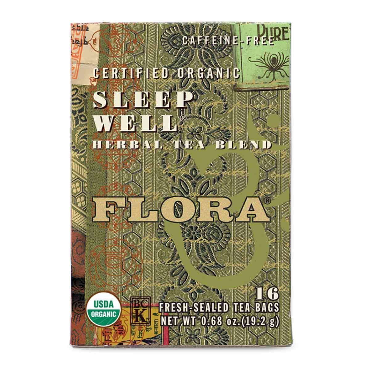 Flora, Herbal Tea Blend, Certified Organic Sleep ZZZ, Sleep Well, 16 Tea Bags (19.2 g)