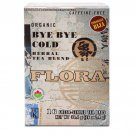 Flora, Herbal Tea Blend, Certified Organic Bye Bye Cold, Energizing Tea, 16 Tea Bags (38.4 g)