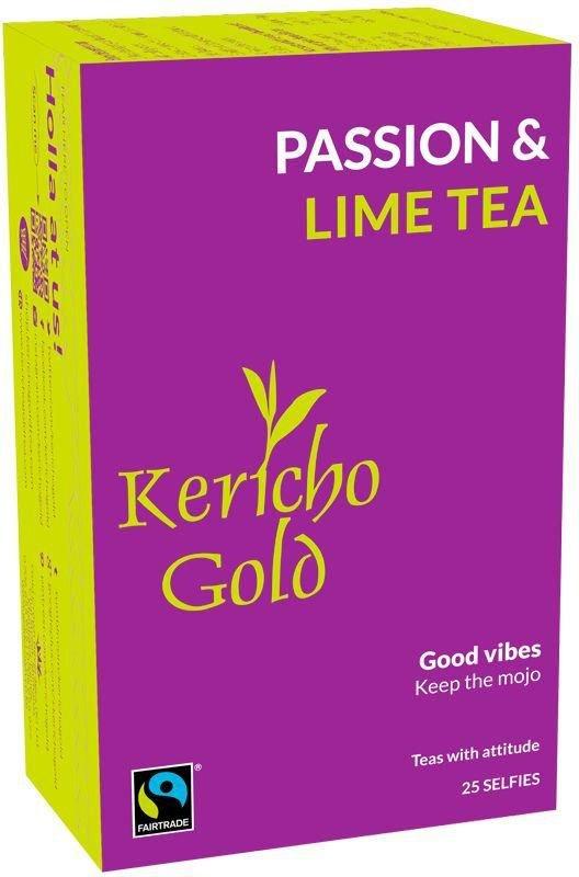 NEW Passion & Lime Tea, Herbal Tea, Good Vibes, Keep the mojo, 25 tea bags Kericho Gold