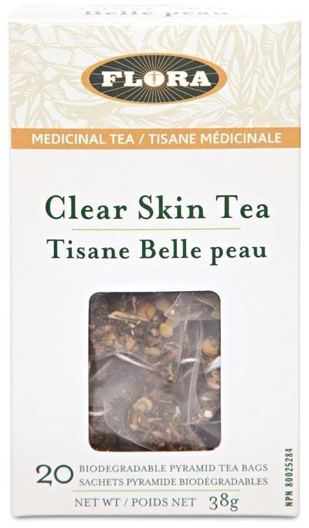 FLORA, Clear Skin Tea, Herbal Tea, 20 tea bags, 38g