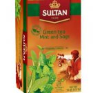 Sultan 1936 Green Tea with Mint and Sage Bags 20 Count