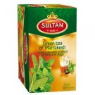 Sultan 1936 Green Tea of Marrakesh, Green Tea with a blend of Mint and Sage, Bags 20 Count