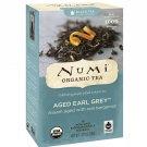 Numi Tea, Organic Tea, Black Tea, Aged Earl Grey, 18 Tea Bags 1.27 oz 36 g
