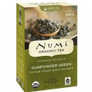 Numi Tea, Organic Tea, Green Tea, Gunpowder Green, 18 Tea Bags, 1.27 oz 36 g