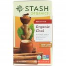 Stash Tea, Black Tea, Organic Chai, 18 Tea Bags, 1.1 oz 33 g