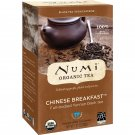 Numi Tea, Organic Tea, Black Tea, Chinese Breakfast, 18 Tea Bags, 1.27 oz 36 g FEW LEFT