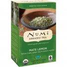 Numi Tea, Organic Tea, Green Tea, Mate Lemon, 18 Tea Bags, 1.46 oz 41.4 g