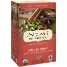 Numi Tea, Organic Black Tea, Medium Caffeine, Golden Chai, 18 Tea Bags, 1.65 oz 46.8 g