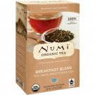 Numi Tea, Organic Tea, Black Tea, Breakfast Blend, 18 Tea Bags, 1.40 oz 39.6 g