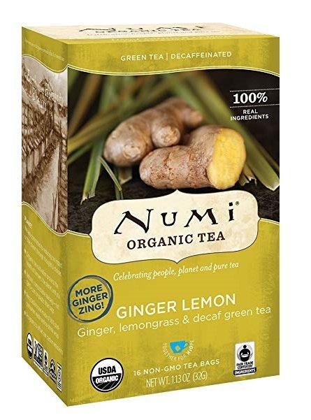 Numi Tea, Organic Tea, Ginger Lemon, 16 Tea Bags, 1.13 oz 32g FEW LEFT
