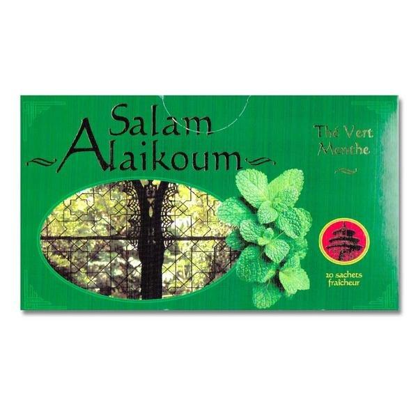 Green Tea with Mint Salam Alaikoum - Gunpowder 20 Sachets Tea bags 36g