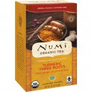 Numi Tea, Organic Tea, Turmeric Three Roots, Caffeine Free, 12 Tea Bags, 1.42 oz 40.2 g