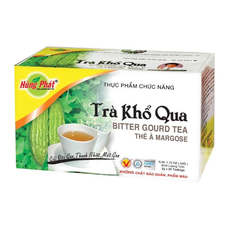 HUNG PHAT BITTER GOURD TEA (TRA KHO QUA) Herbal Tea 25 tea bags