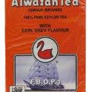 Alwazah Tea, Ceylon with Earl Grey flavour, Swan Brand, 400-gram box