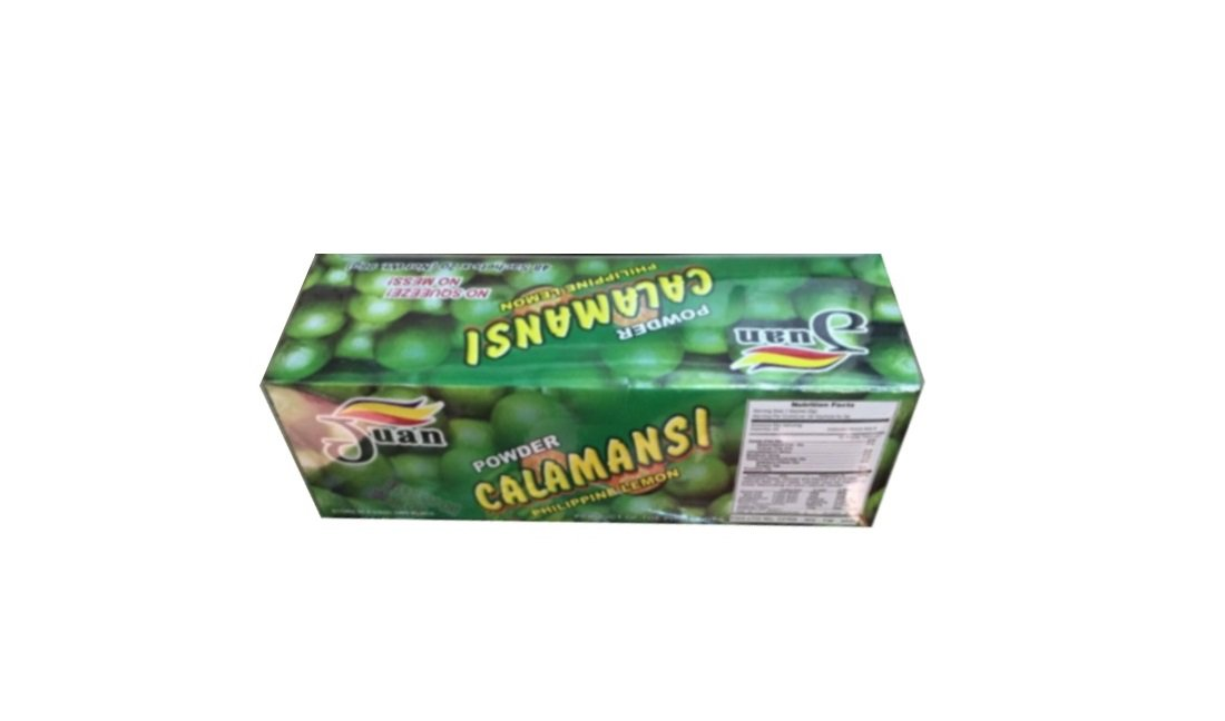 Juan Calamansi Philippine Lemon Powder No Squeeze No Mess 48 Sachets/Box