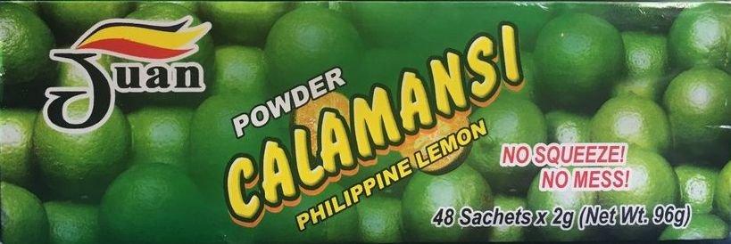 Juan Calamansi Philippine Lemon Powder No Squeeze No Mess 48 Sachets/Box