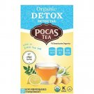 Pocas Detox Herbal Tea 20 un with Lemongrass, Green Tea, Ginger, Lemon, Cinnamon, and more