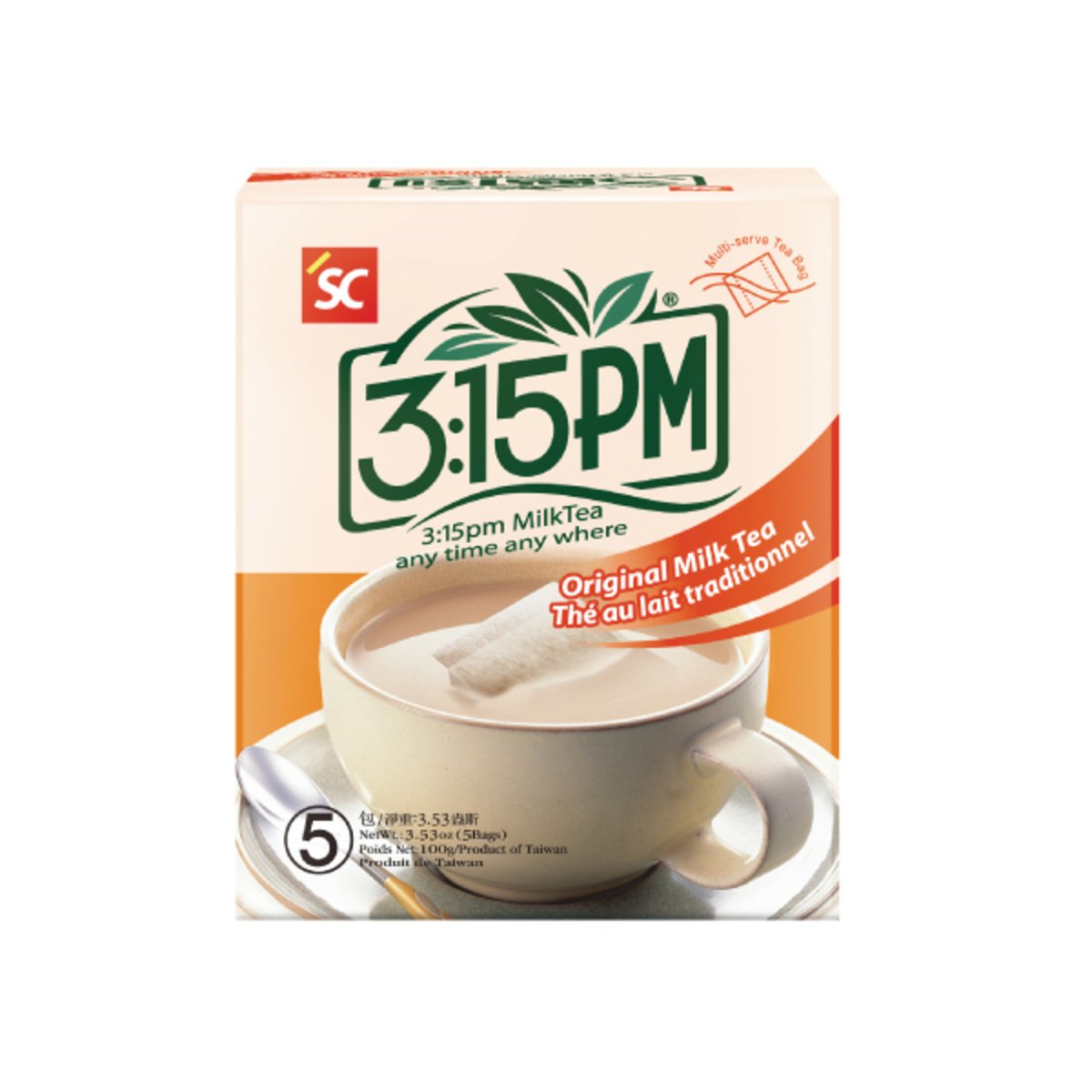 Japanese 3:15PM Original Milk Tea 100g 5 Tea Bags From Taiwan