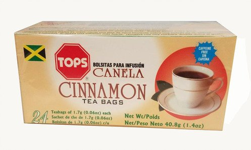TOPS Canela Cinnamon Herbal Tea 24 tea bags