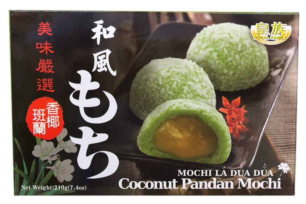 Royal Family Coconut Pandan Mochi 210gm Mochi La Dua Dua