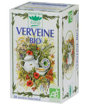 Romon Nature Tisane Verbena Verveine Nature Bio Herbal tea 20 sachets
