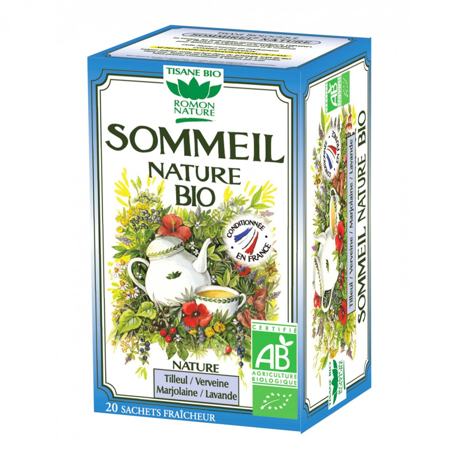 Romon Nature Tisane Sleep Sommeil Herbal tea 20 sachets