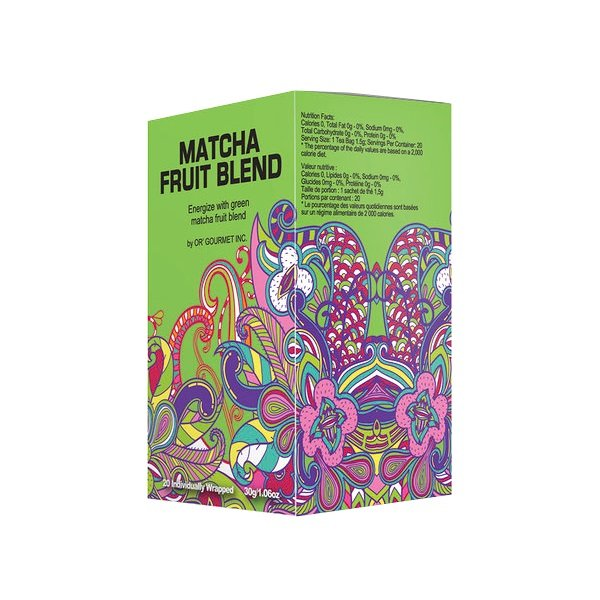 Matcha Fruit Blend Earth Teaze Brand 20 tea bags