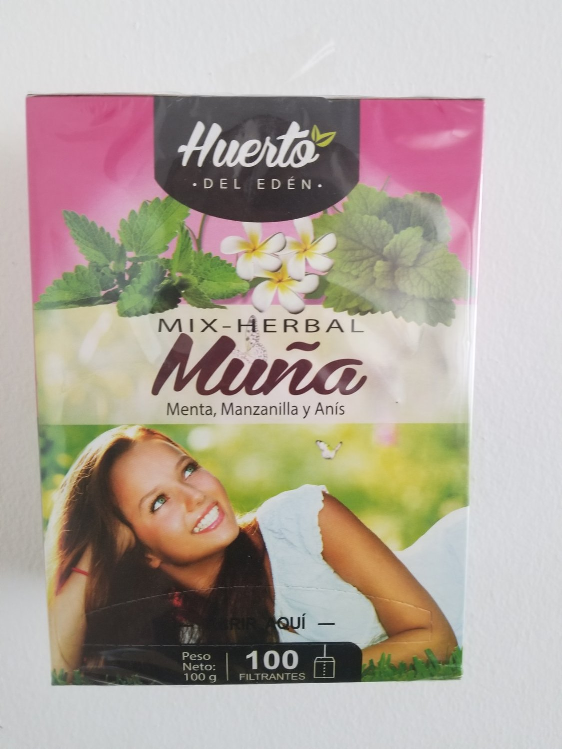 Mint Herbal Tea with Muna Mint Chamomile and Anise 100 tea bags