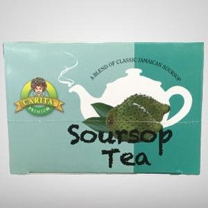 Carita Soursop Graviola Herbal Tea Corossol Guanabana Tea + Immune System Booster