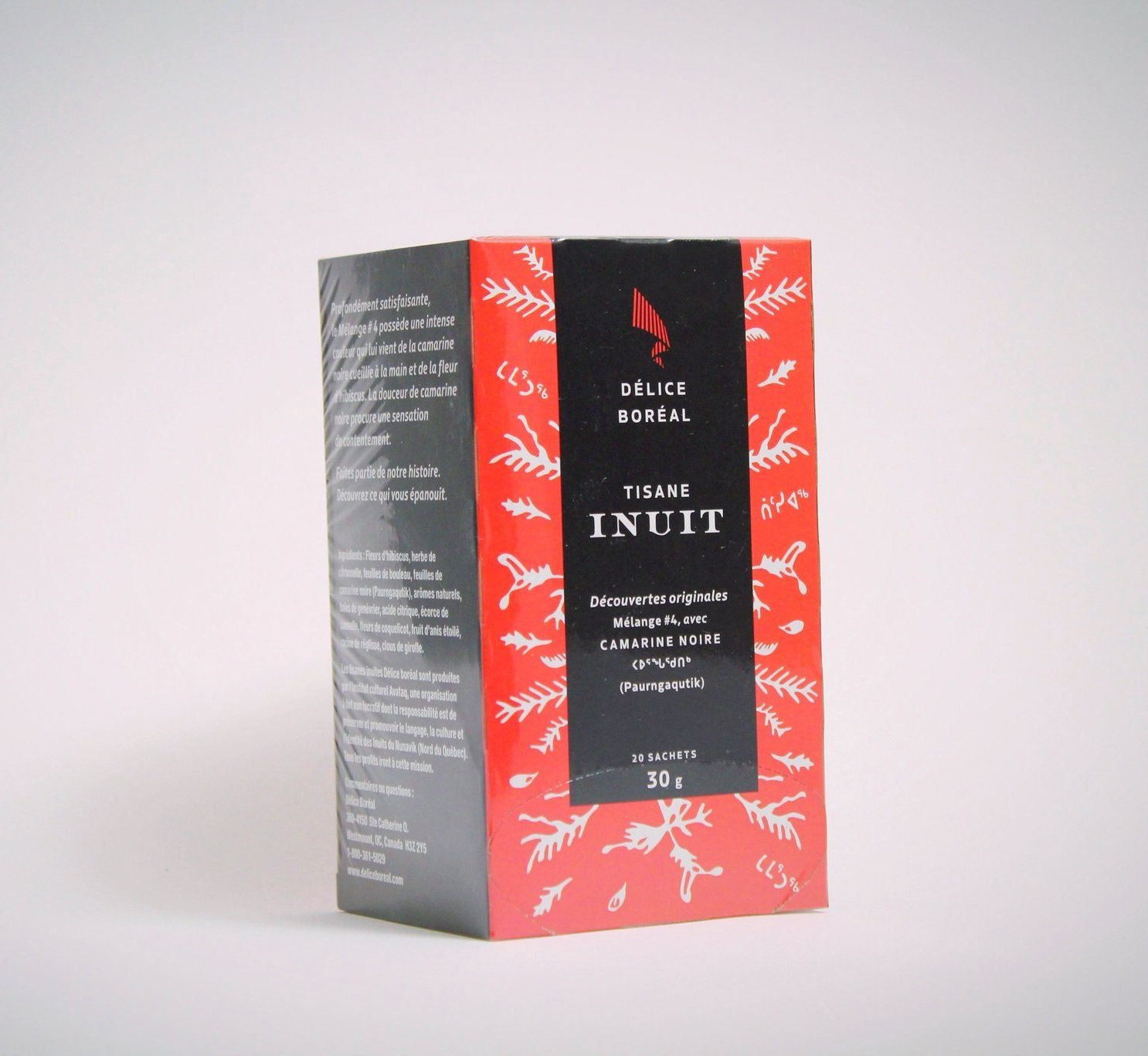 Inuit Herbal tea with Crowberry 20 tea bags  Product of Quebec, Canada