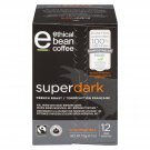 Superdark Ethical Bean Coffee: 100% Compostable, French Roast Keurig Compatible - 12 Pods