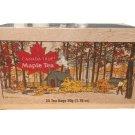 Maple Tea 25 tea bags 50 g 1.75 oz Wooden Box Canada True Souvenir Gift