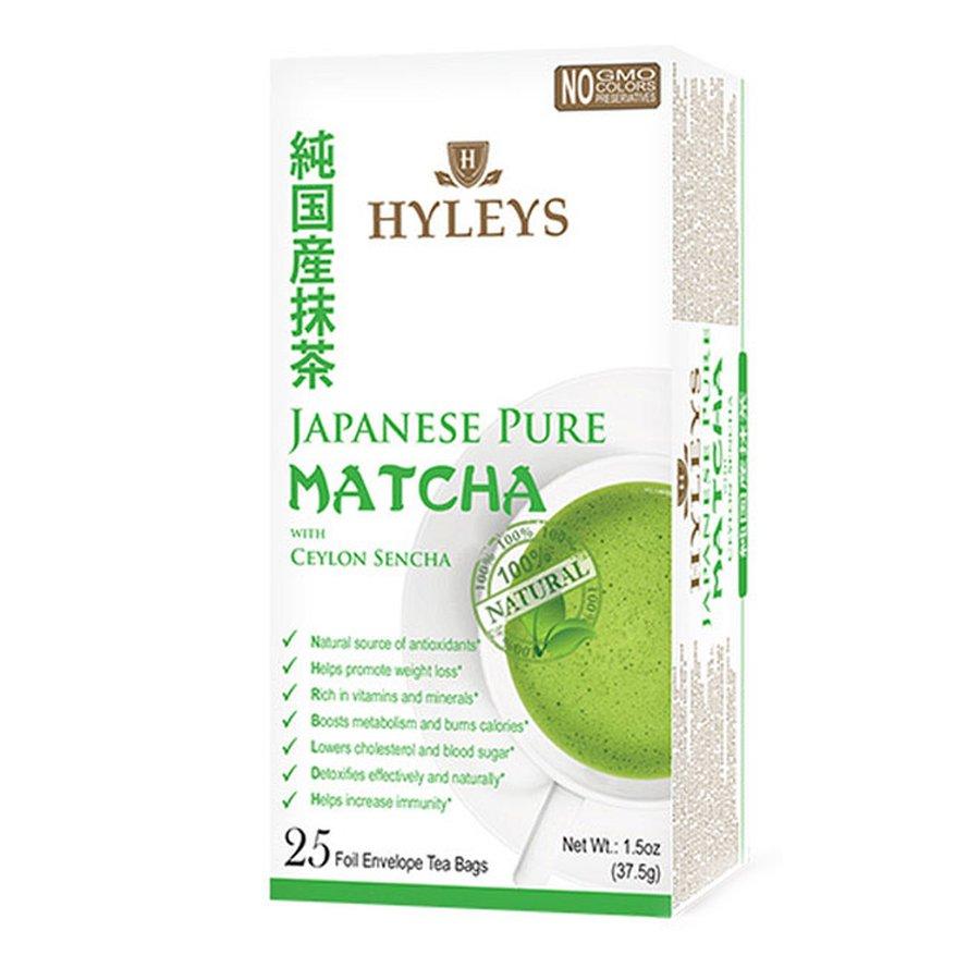 Hyleys Japanese Pure Matcha and Ceylon Sencha Green Tea 100% Natural