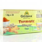 Geisha Pure Turmeric Ginger Curcuma Herbal Tea, 25 tea bags