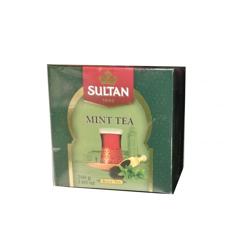 Sultan 1936 Mint Tea, Black Tea, Bags 200 grams