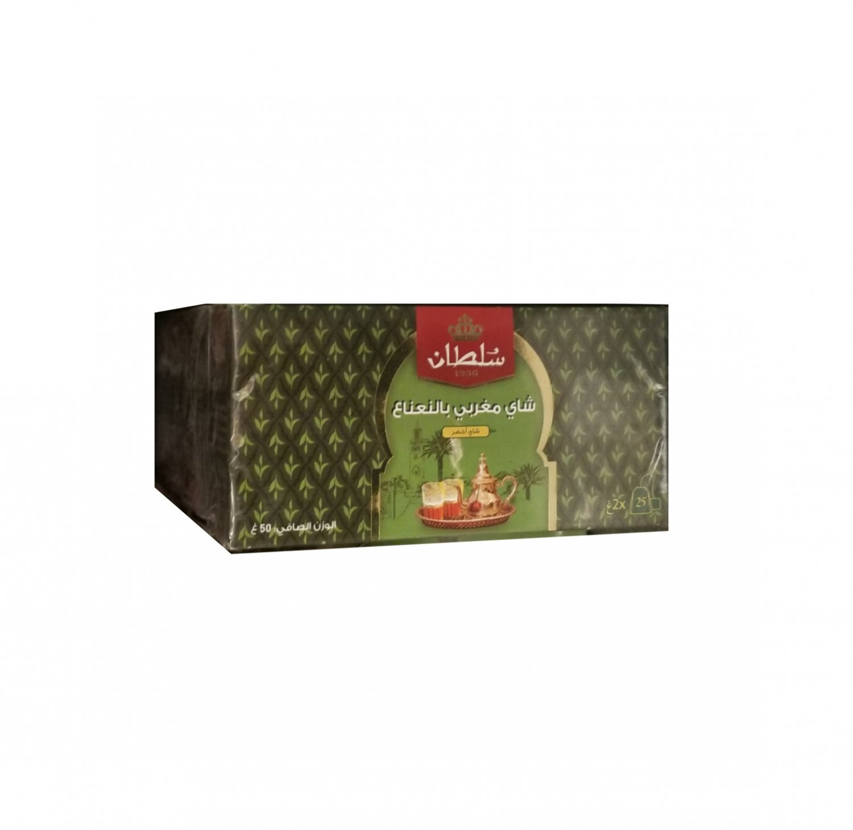 Sultan 1936 Moroccan Mint Tea, Green Tea, 25 Tea Bags