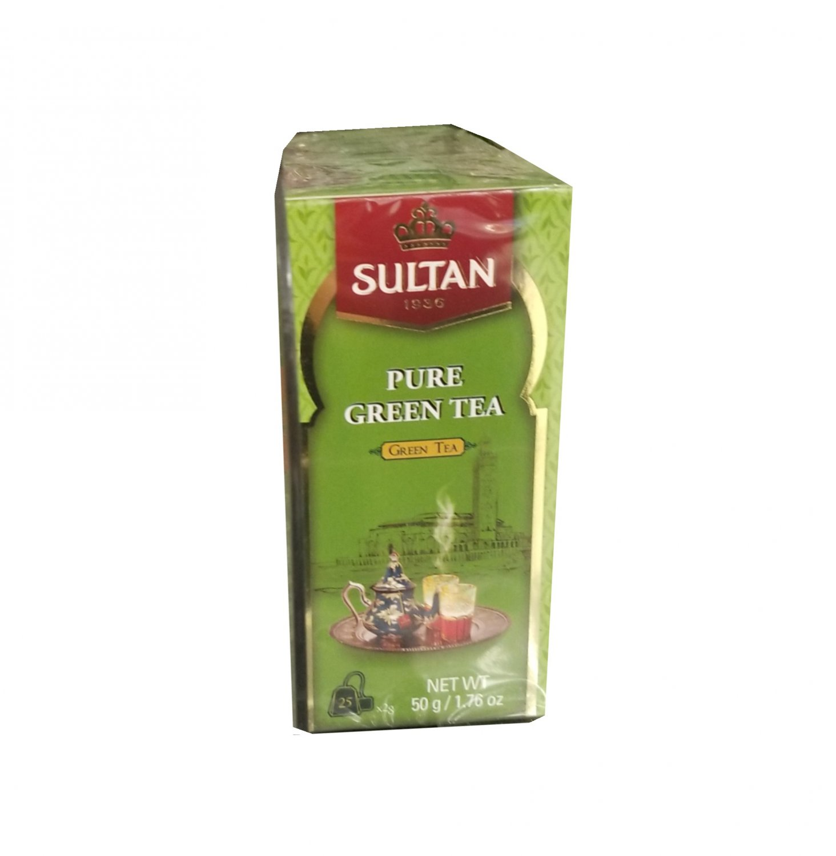 Sultan 1936 Pure Green Tea, Green Tea, 25 Tea Bags