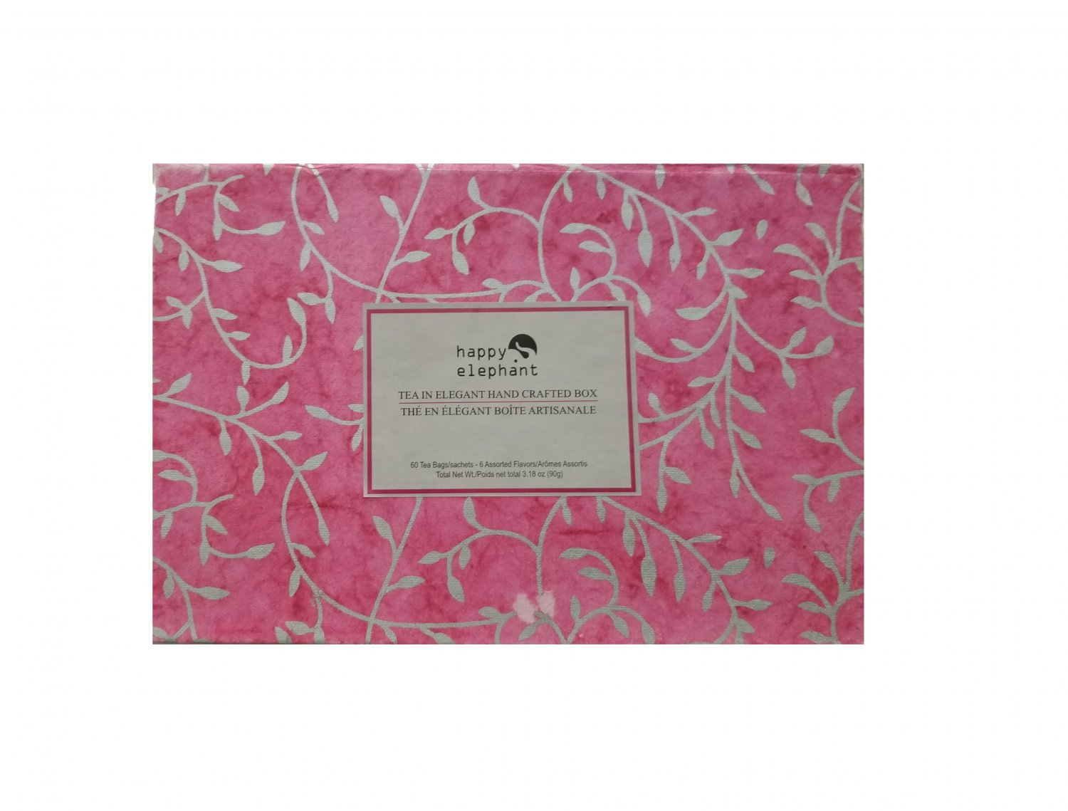 Specialty Tea Selection Happy Elephant Pink Gift Set 60 tea bags - 6 Assorted Flavors New Gift Idea