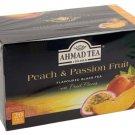 Ahmad Tea Black Tea Peach and Passion Fruit flavored Black Tea 20un