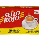Sello Rojo Espresso Dark Roast Coffee 100% Colombian Pack 10 oz. 283 g Product of Colombia