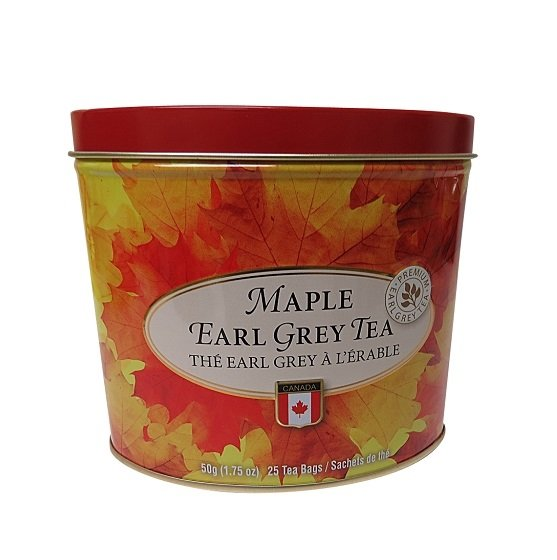 Canada True Maple Earl Grey Tea Tin 25 tea bags 50 g 1.75 oz