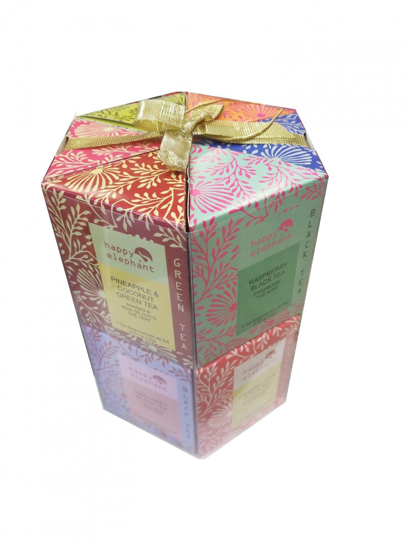 Specialty Tea Selection Happy Elephant Gift Box 96 tea bags - 12 flavors New Gift Idea