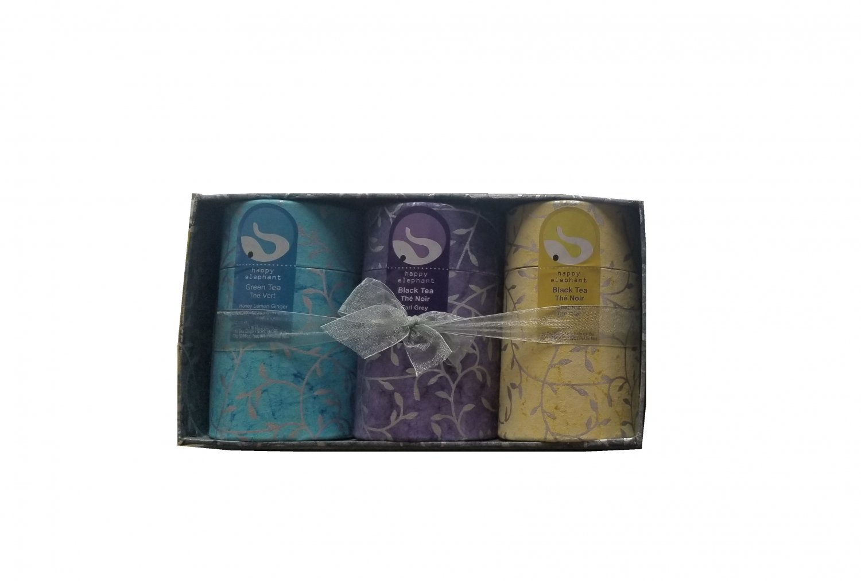 Gift Box 3 flavors Specialty Tea Selection Happy Elephant New Gift Idea
