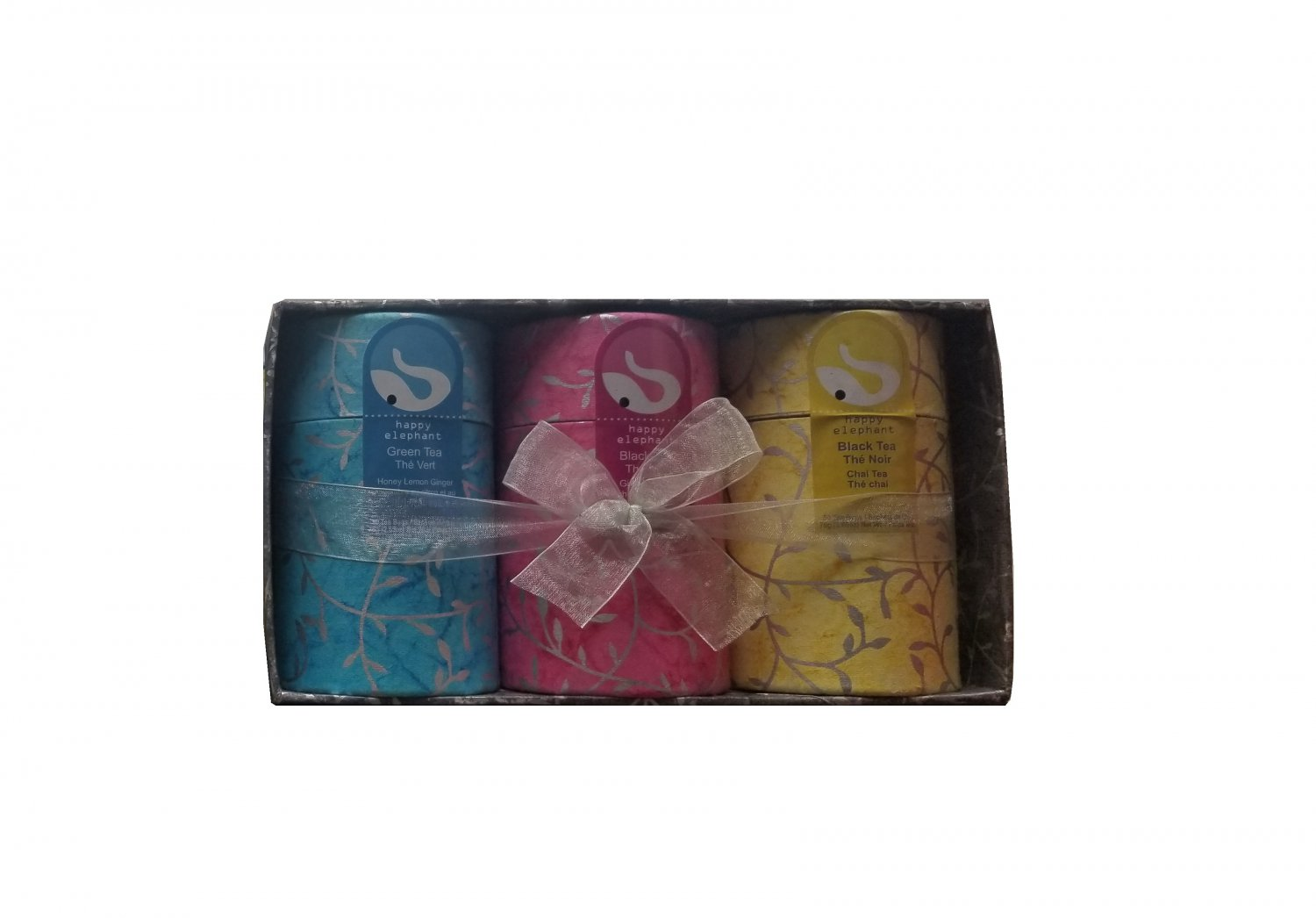 Gift Box 3 flavors Specialty Tea Selection Happy Elephant New Gift Idea