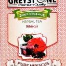 NEW Greystone Hibiscus Tea Herbal Tea Organic Kosher non gmo caffeine free