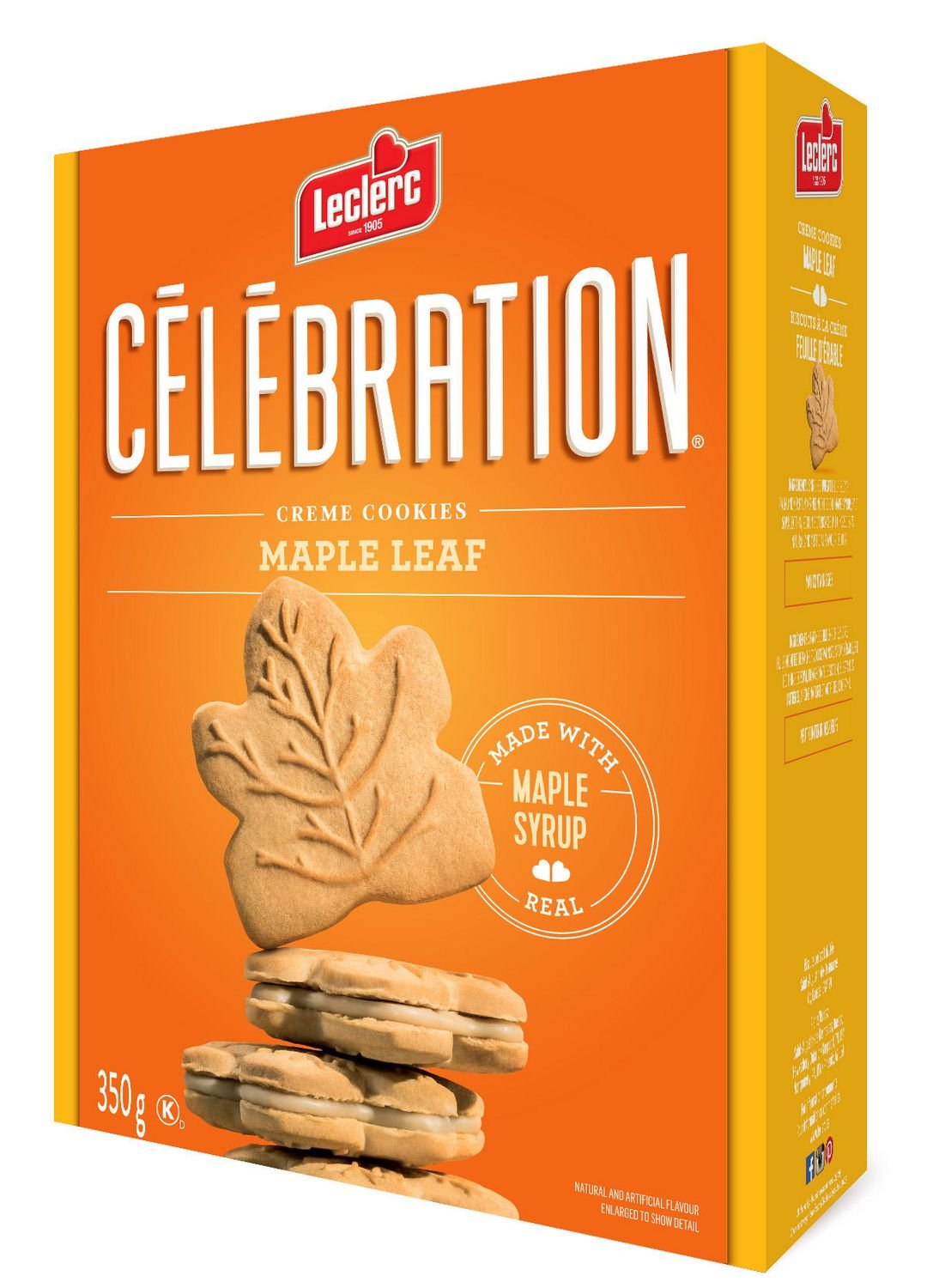 Maple Cream Cookie with 100% Pure Maple Syrup - Leclerc Celebration