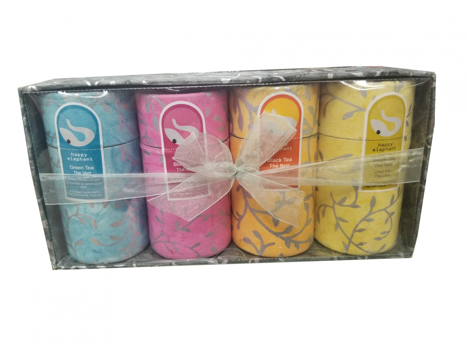 Gift Box 4 flavors Specialty Tea Selection Happy Elephant New Gift Idea