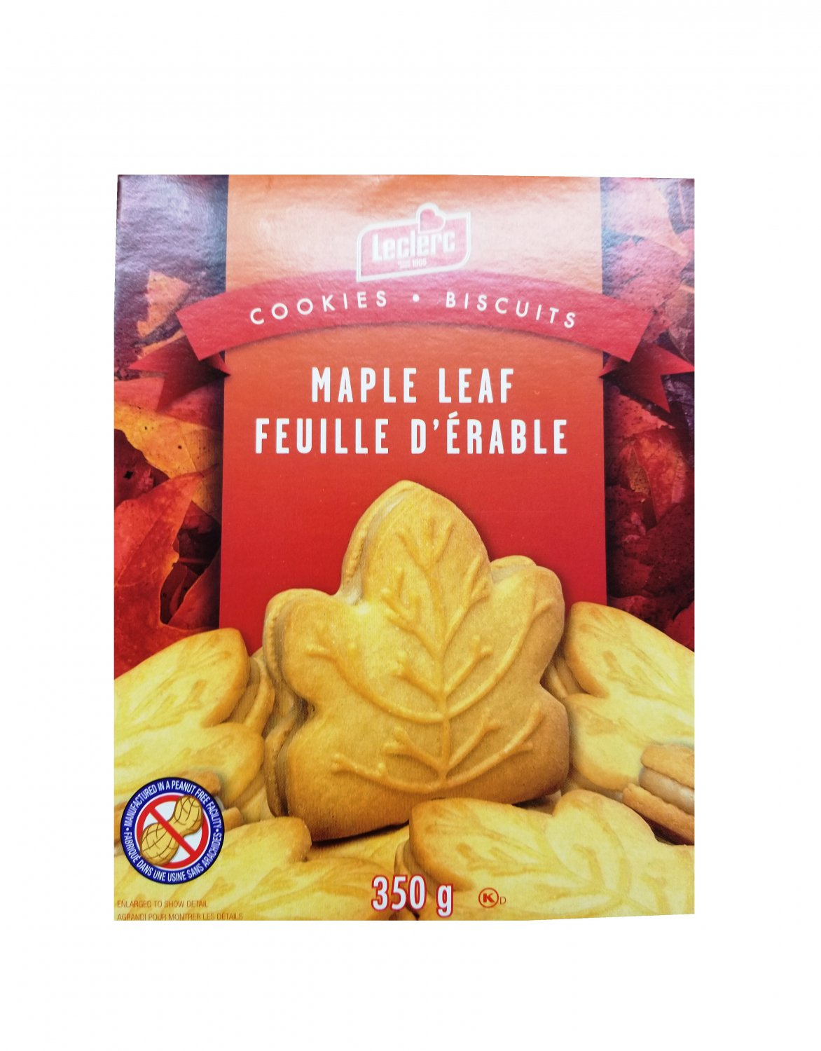Maple Cream Cookies from Canada with 100% Pure Maple Syrup - Leclerc